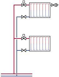 схема отопления двухтрубной системы