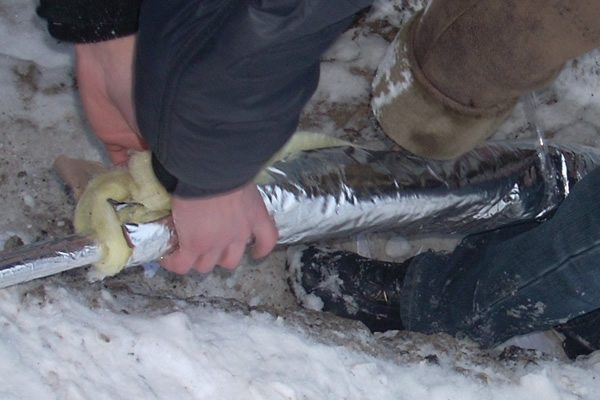 что делать если трубы замерзли