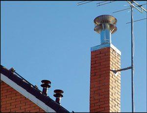 дефлектор на кирпичном дымоходе