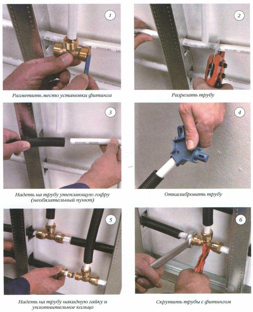 фитинги металлопластиковые трубы