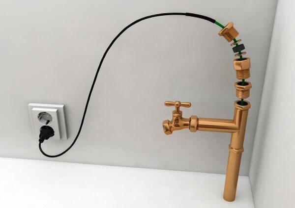 кабель для обогрева внутри трубы