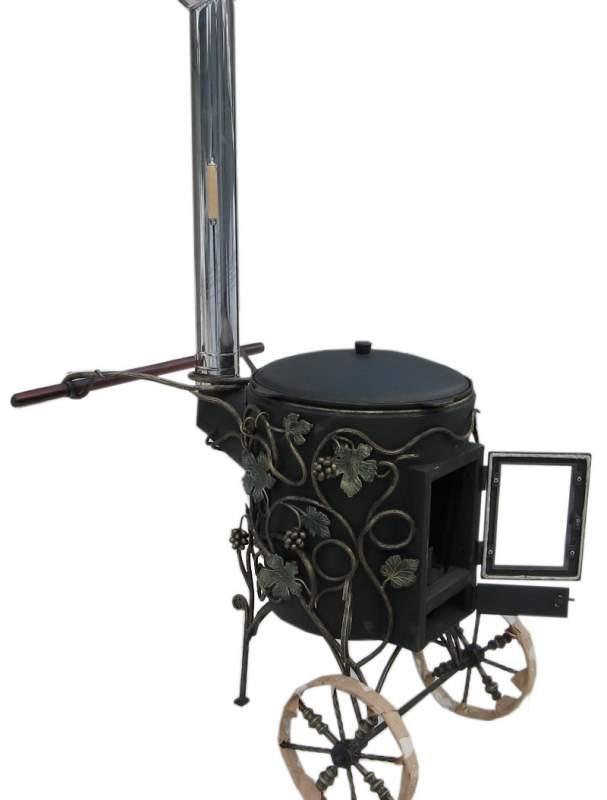 печь для казана с трубой