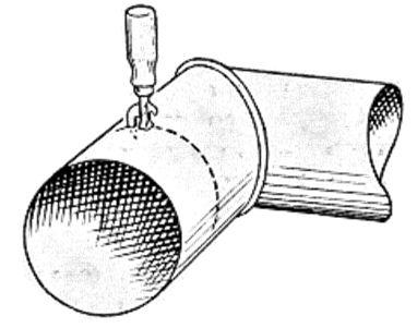 Труба из оцинкованного листа своими руками