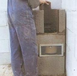 установка блока и теплоизоляции
