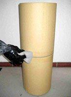 установка прямых элементов керамической трубы