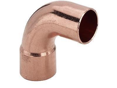 Дюймовый медный фитинг под пайку – отвод для водопровода
