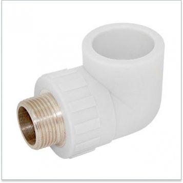 этот фитинг позволяет, к примеру, смонтировать полипропиленовую трубу под прямым углом без отступа от фильтра