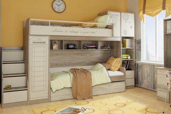 Такая кровать-чердак экономит место и выглядит стильно
