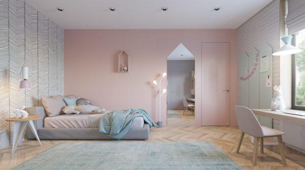 Комната в постельных тонах