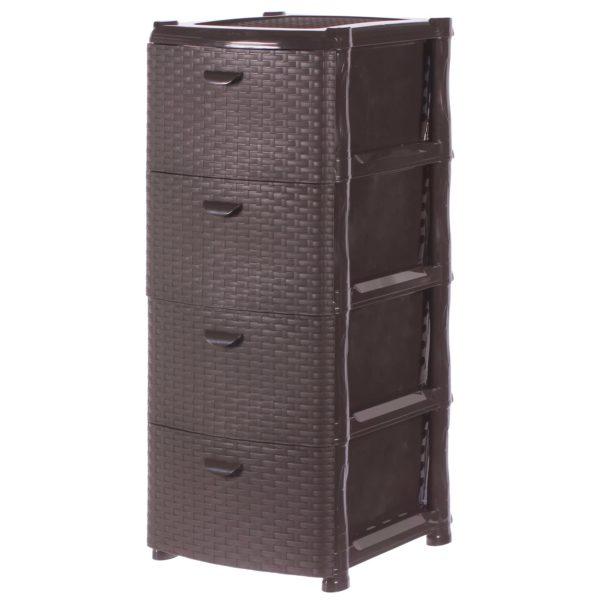 Комод «Ротанг», 4 ящика, 40.5х50.5 см