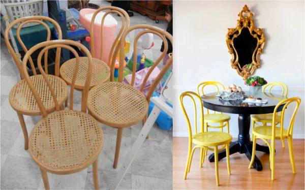 Невзрачные стулья заиграли новыми красками