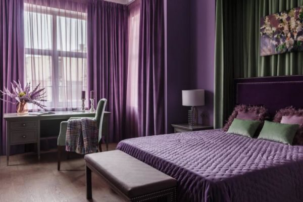 Считается, что фиолетовый цвет хорошо влияет на сон