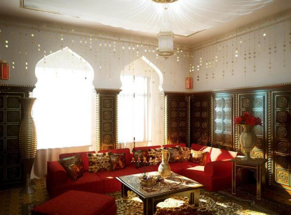 Богатая атмосфера стиля марокко