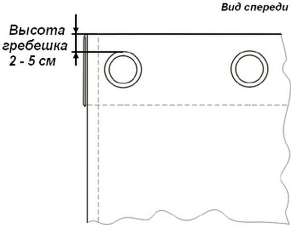 Чем больше будет высота гребешка, тем крепче и дольше будет висеть ваша штора