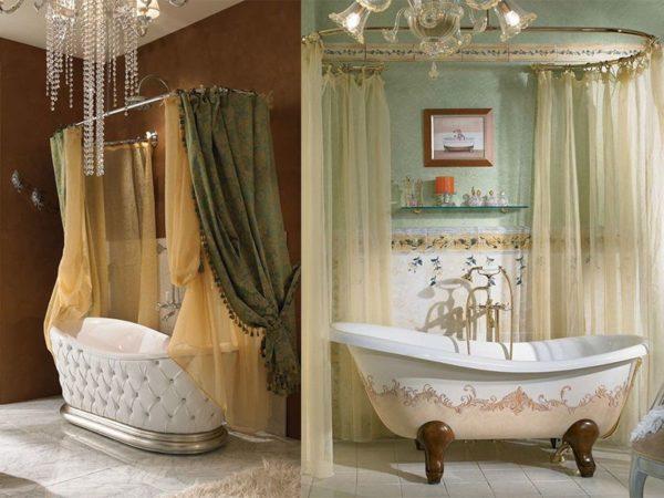 Такая штора сделает ванную комнату королевской
