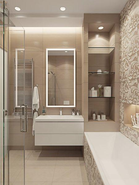 Нейтральный цвет ванной комнаты подойдет практически к любому стилю вашего дома
