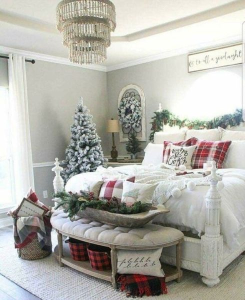 Праздничное оформление спальной комнаты