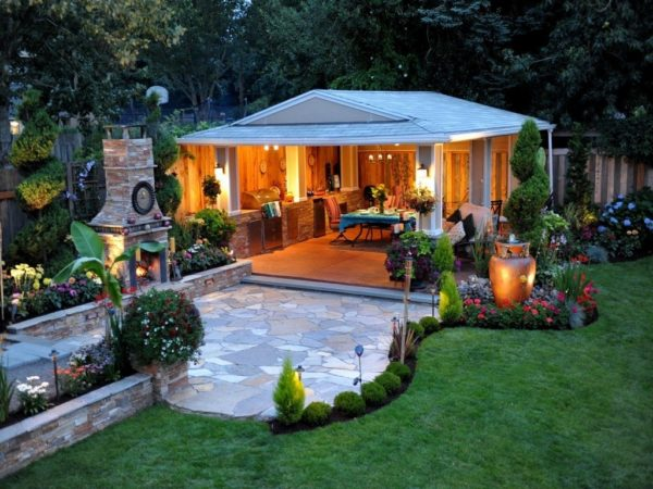 Ландшафтный дизайн на заднем дворе