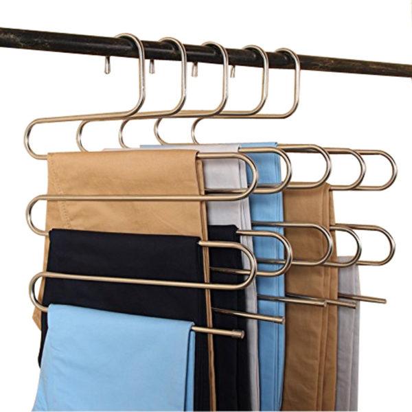 Многоуровневая вешалка для штанов и шарфов