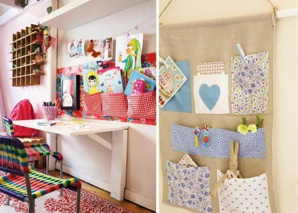 Подвесные карманы позволят сэкономить место в комнате, главное чтоб малыш не прятал в них еду