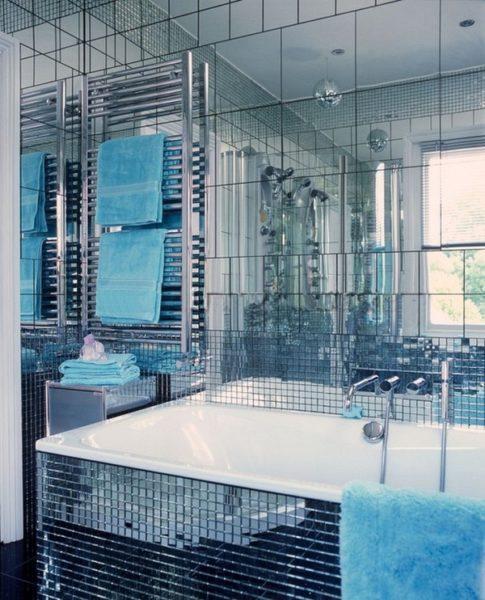 Роскошная зеркальная ванная комната потребует роскоши от остальной части дома