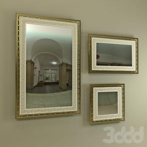Зеркала в рамках отобразят вашу комнату в виде картин