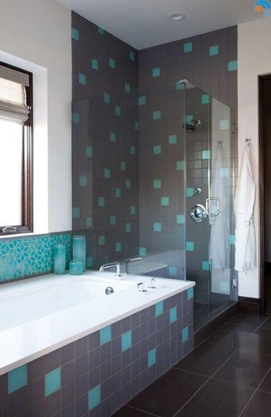 Серо-бирюзовая ванная комната подчеркнет ваш стиль и утонченность