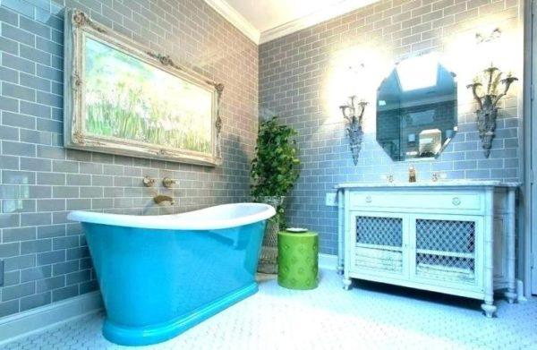 Бирюзовая ванная комната придаст бодрости утром и расслабление вечером