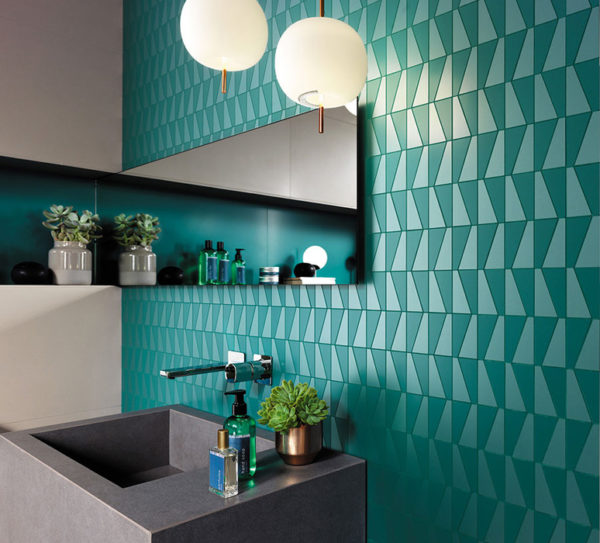 Геометрия раскрывает цвет и придает еще большую элегантность комнате