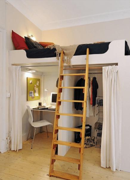 Кровать – гардеробная
