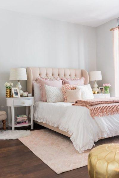 Дизайн романтичной спальни