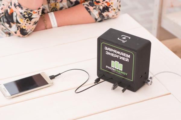 Зарядные станции в общественном кафе