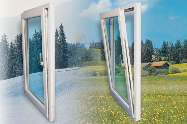 Производители пластиковых окон предусмотрели специальные режимы, для проветривание в разное время года