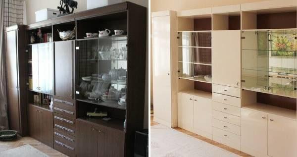 Простая покраска шкафа преобразит комнату