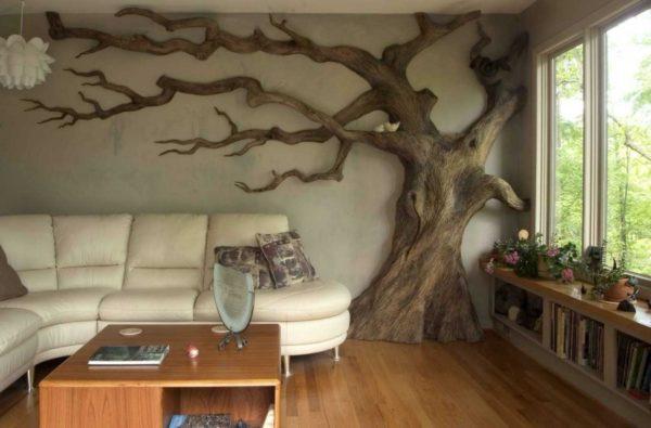 Декорируйте только одну стену, чтобы не перегружать пространство