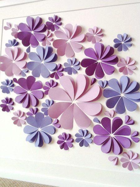 Простые в изготовлении цветы из бумаги украсят любую комнату