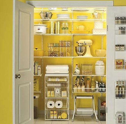 Кладовая находится за дверями «кухонного шкафа».