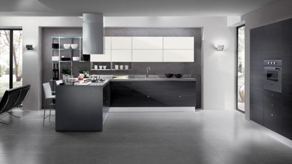 В кухне Scavolini вся техника встраивается, что придает отдельный лоск помещению.