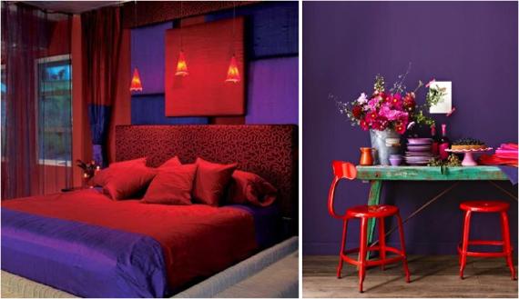 В комнате с таким сочетанием цветов сложно долго находиться.