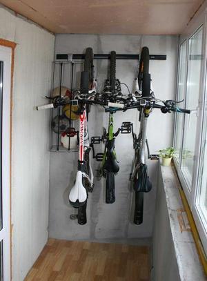 Экономичное хранения велосипедов всех членов семьи.