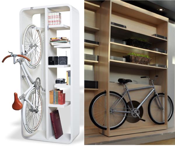 Хранение вело в пространстве открытых полок.