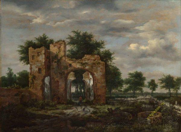 Якоб ван Рейсдал «Разрушенные ворота замка».