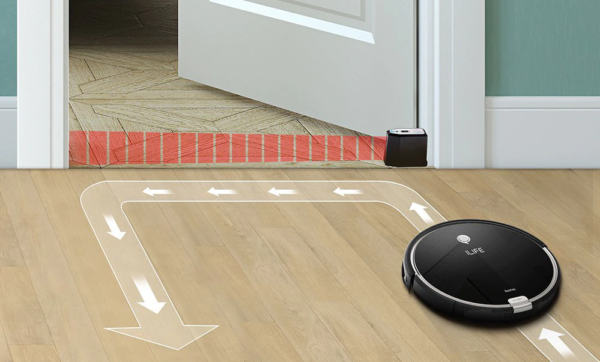 Виртуальная стена для робота – пылесоса.