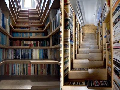 Лестница – маленькая библиотека.
