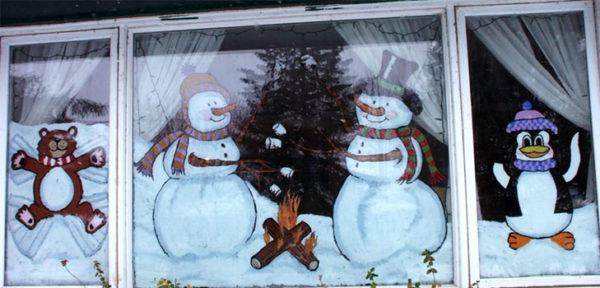 Можно рисовать сезонные изображения на стеклах вашей веранды.