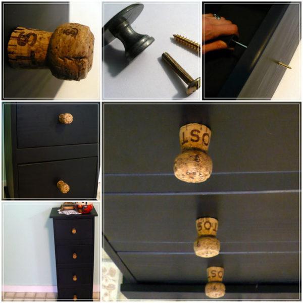 Необычный дизайн ручек шкафчика.