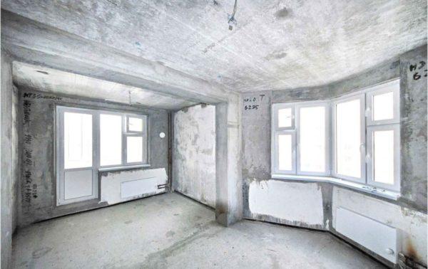 «Коробка» - будущая квартира.