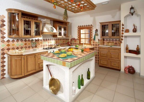 Современный образ деревенской кухни.
