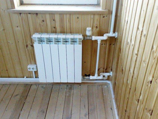 Фрагмент современной системы отопления частного дома.