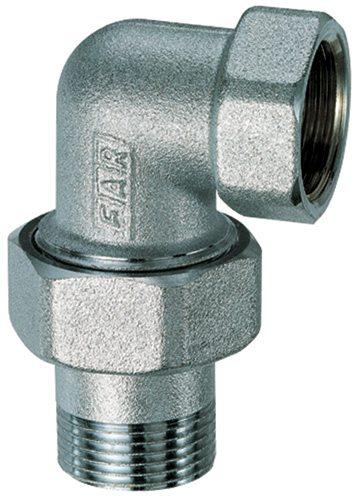 Хромированный угловой соединительный элемент для труб.